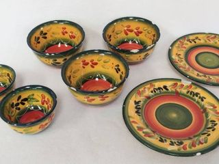 7 Chipped   Damaged Pieces of la Province by Corsica Home   Vibrant Dinnerware