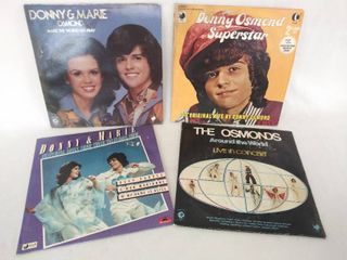 Donny  Marie   the Osmonds lot of 4 Albums from the 1970 s