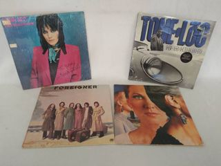 lot of 4 Albums from the 70 s   80 s   Tone lock  Joan Jett  Foreigner   STYX