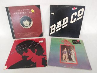 4 Iconic Vintage Albums   linda Ronstadt  Bad Co  Santana    The Grass Roots