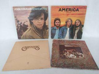1970 s   80 s Albums   lot of 4   John Cougar  America  Carpenters    loggins   Messina