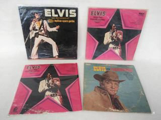 1960 s   70 s Elvis Presley Albums  lot of 4 in Protective Plastic Covers