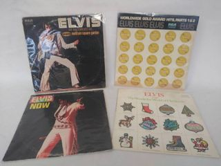 lot of 4 Vintage Elvis Presley Albums   Including  The Wonderful World of Christmas  from 1971  All in Plastic Protective Covers