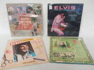 4 Elvis Presley Vintage Albums    Elvis  Christmas Album   Songs for Children   Harum Scarum     For Ol  Time Sake    In Plastic Protective Covers