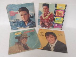 Elvis Presley   4 Albums from the 60 s   70 s a Including A Christmas Album   Blue Hawaii Soundtrack  All in Plastic Protective Covers