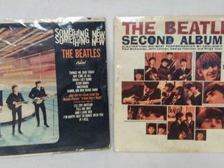 2 Vintage Beatles Albums    Something New     The Beatles Second Album    In Plastic Protective Covers