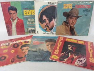 lot of 6 Vintage Albums from Elvis Presley   All in Plastic Protective Covers