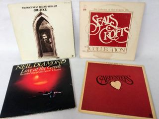 4 Incredible Albums from the 1970 s   The Carpenters  Neil Diamond  Jim Croce    Seals Croft