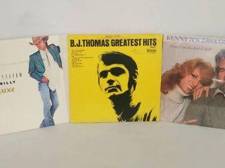 3 Vintage County Music Albums   Dwight Yokem  B  J  Thomas    Kenny Rogers with Dottie West