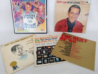 5 Vintage Albums   Including lawrence Welk  50 Year Hit Parade of Songs  Box Set  1991  Perry Como   The Best of 66    More