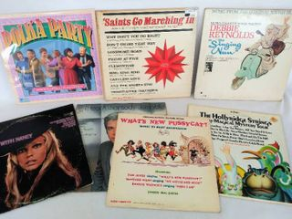 7 Fun Vintage Albums     Polka Partyc  The Singing Nun  Soundtrack   What s New Pussy Cat    More