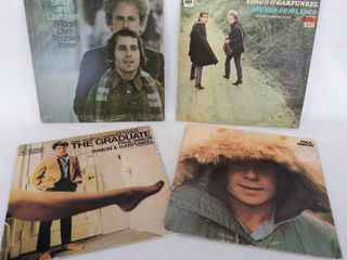 lot of 4 Vintage Albums from Paul Simon   Garfunkel   Including  The Graduate  Soundtrack