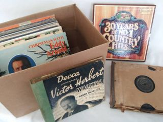 Treasure Hunt Box of Vintage Albums   Including 1930 s 78 RPM Sets