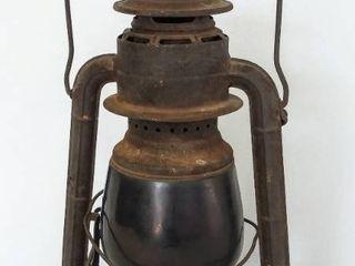 Vintage Dietz Railroad lantern   little Wizard   Red Glass Globe