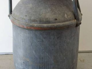 Very Old Metal Milk Can   19  Tall