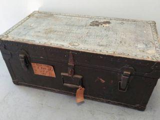U  S Military Foot locker Trunk  Poirier   Mclane  Pat  Date 1947   32  W x 16 25  D x 13 5  H