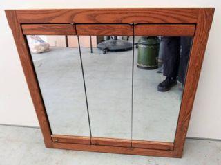 3 Mirrored Door Bathroom Wall Cabinet   Measurements are in Photos