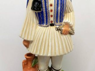 Vintage Metaxa OUZO Specialty liquor  Empty  Decanter   Ceramic Container Hand Painted   Made in Italy
