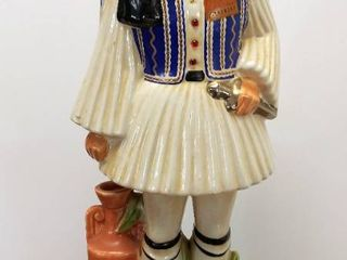 Vintage Metaxa OUZO Specialty liquor  Full  Decanter   Ceramic Container Hand Painted   Made in Italy