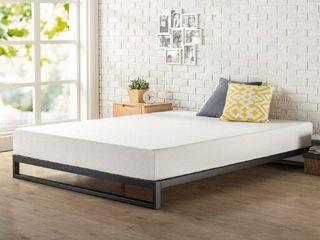 Zinus Trisha 7 Inch Platforma Bed Frame With Headboard   Mattress Foundation
