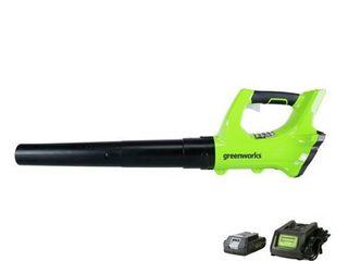 GreenWorks 10 32 H 24V leaf Blower Green