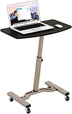 Shw Height Adjustable Mobile laptop Stand Desk Rolling Cart  Height Adjustable F