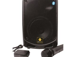 Pyle BT Karaoke PA Speaker   Indoor   Outdoor Portable Sound System with Wireless Mic  Audio Recording  re chrg battery  USB   SD Reader  Stand Mount   For Party  Crowd Control