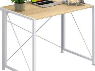 4NM No Assembly Folding Desk Small Computer Desk laptop Table Compact Home Office Desk Study Reading Table for Space Saving Office Table