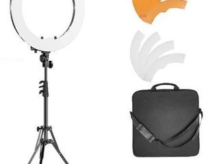 Ring light Kit 18  48cm Outer 55W 5500K Dimmable lED Ring light  light Stand  Carrying Bag for Camera Smartphone YouTube Self Portrait Shooting
