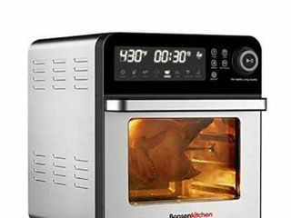 Bonsenkitchen Air Fryer Oven With Rotisserie And Rack  15 3qt Roster