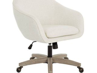 AveSix   Nora 5 Pointed Star Plush Padded Office Chair   linen