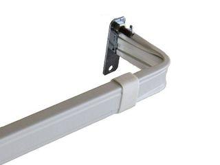 Rod Desyne lockseam 2 Inch Clearance Window Curtain Rod Set  66 to 120 Inch