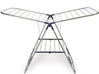 Stainless Steel Clothes Drying Rack a Adjustable Gullwing And Foldable