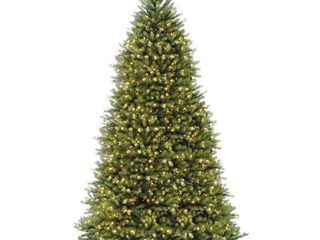 National Tree Pre lit 12  Dunhill Fir Hinged Artificial Christmas Tree with 1500 Clear lights