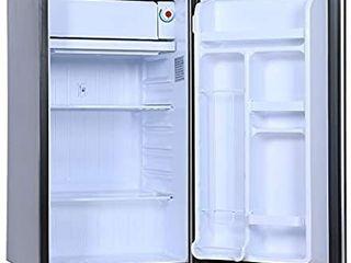 RCA RFR322 B 3 2 Cu Ft Single Door Mini Fridge with Freezer RFR322  Platinum  Stainless