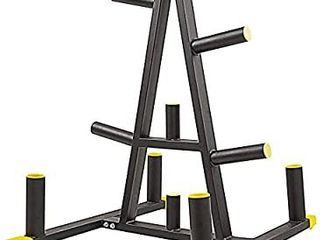 BalanceFrom 1 Inch or 1 Inch Weight Plate Rack with Barbell Holders  600 Pound Capacity