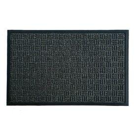 Blue Hawk Charcoal   Brown Rectangular Door Mat  Common  24 in x 36 in  Actual  23 5 in x 35 5 in