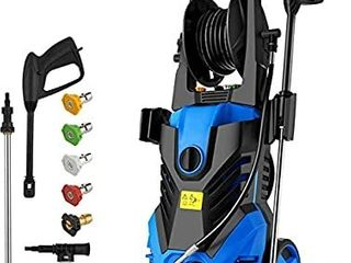 Homdox 2850PSI Pressure Washer 1 7GPM Electric Pressure Washer 1800W High Car Pressure Washer Power Washer with Hose Reel  Adjustable Nozzle  Soap Bottle