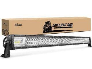 Nilight   18018C A lED light Bar 42Inch 648W Triple Row Flood Spot Combo led Bar 43000lM Driving lights Super Bright led Off Road lights for Trucks Jeep UTV ATV Boat