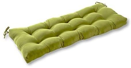 South Pine Porch AM5812 HUNTER Solid Summerside Green 51 inch Outdoor Bench Cushion