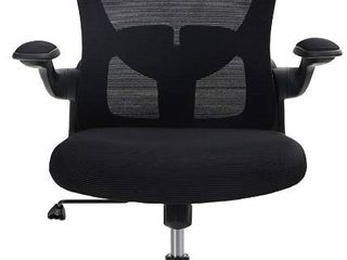 MAISON ARTS Ergonomic Home Office Chair Swivel Computer Desk Chair  Breathable Computer Mesh Chair with Flip up Armrests  Headrest and lumbar Support