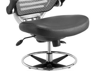 Modway Edge Drafting Chair   Reception Desk Chair   Flip Up Arm Drafting Chair in Gray