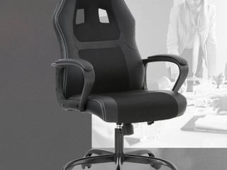 Racing Style Ergonomic Gaming Chair With lumbar Support  Black