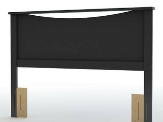 South Shore Step One Headboard  Full Queen 54 60 Inch  Pure Black