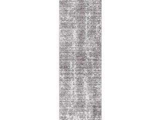 nulOOM Misty Shades Deedra Runner Rug  2  5  x 9  5  Grey