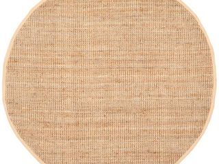 Safavieh Natural Fiber Collection NF747A Hand Woven Natural Jute Round Area Rug  3  Diameter