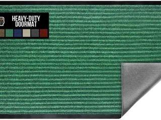 Gorilla Grip Original low Profile Rubber Door Mat  35x23  Heavy Duty  Durable Doormat for Indoor and Outdoor  Waterproof  Easy Clean  Home Rug Mats for Entry  Patio  High Traffic  Green