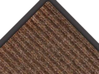 NoTrax 109S0046BR 109 Brush Step Entrance Mat  For Home or Office  4  Width X 6  length Brown