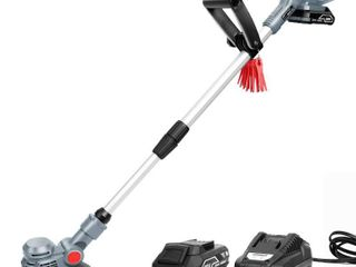 SAlEM MASTER Cordless Stringless Trimmer with Blade Weed Eater Powered with lithium Ion Battery and Charger
