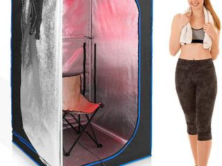 Serenelife Portable Full Size Infrared Home Spa  One Person Sauna   With Heat